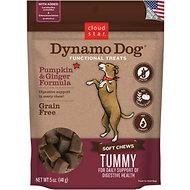 Cloud Star Dynamo Dog Tummy Soft Chews Pumpkin & Ginger Formula Dog Treats, 14-oz bag