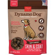 Cloud Star Dynamo Dog Skin & Coat Soft Chews Salmon Formula Dog Treats, 14-oz bag