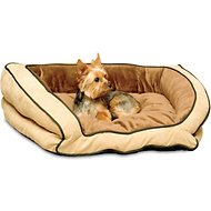 K&H Pet Products Bolster Couch Pet Bed, Mocha/Tan, Small