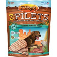 Zuke's Z-Filets Grilled Venison Recipe Dog Treats, 3.25-oz