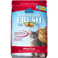 Blue Buffalo Naturally Fresh Walnut-Based Multi-Cat Quick-Clumping Cat Litter, 26-lb bag