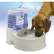 K&H Pet Products CleanFlow Filtered Water Bowl with Reservoir for Dogs, Large
