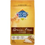 Nature's Recipe Grain-Free Indoor Chicken & Potato Recipe Dry Cat Food, 2-lb bag