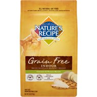 Nature's Recipe Grain-Free Indoor Chicken & Potato Recipe Dry Cat Food, 5-lb bag