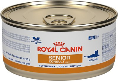 royal canin veterinary diet senior consult canned cat food 5 8 oz can case of 24. Black Bedroom Furniture Sets. Home Design Ideas