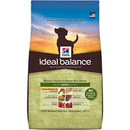 Hill's Ideal Balance Natural Chicken & Brown Rice Recipe Adult Dry Dog Food, 30-lb bag