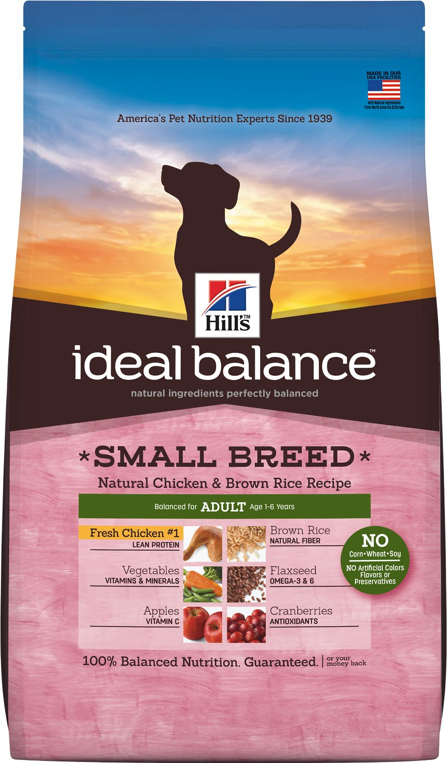 Ideal Balance Dog Food >> Hill S Ideal Balance Small Breed Natural Chicken Brown Rice
