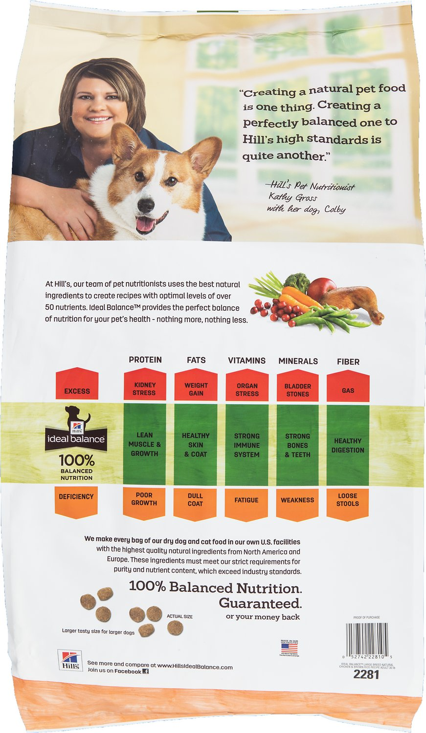 Ideal Balance Dog Food >> Hill S Ideal Balance Large Breed Natural Chicken Brown Rice Recipe