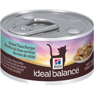 Hill's Ideal Balance Baked Tuna Recipe Canned Cat Food, 2.9-oz, case of 24