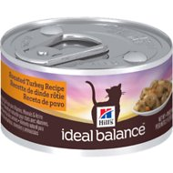 Hill's Ideal Balance Roasted Turkey Recipe Canned Cat Food, 2.9-oz, case of 24