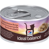 Hill's Ideal Balance Poached Salmon Recipe Canned Cat Food, 2.9-oz, case of 24