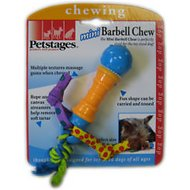 Petstages Mini Barbell Dog Chew Toy