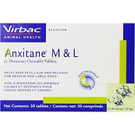 Virbac Anxitane (L-Theanine) Medium & Large Chewable Dog Tablets, 30 count