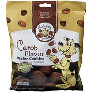 Exclusively Dog Wafer Cookies Carob Flavor Dog Treats, 8-oz bag