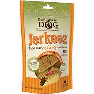 Exclusively Dog Jerkeez Taco Flavor Dog Treats, 7-oz bag