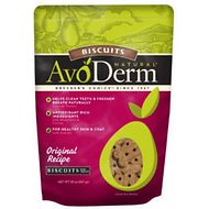 AvoDerm Natural Original Recipe Biscuits Dog Treats, 20-oz bag