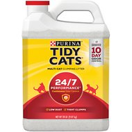 Tidy Cats Scoop 24/7 Performance Continuous Odor Control Cat Litter, 20-lb jug