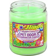 Pet Odor Exterminator Hippie Love Deodorizing Candle, 13-oz jar