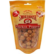 Smokehouse Chicken Poppers Dog Treats, 4-oz bag