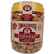 Smokehouse Chicken Poppers Dog Treats, 1-lb jar