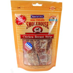 Smokehouse USA Chicken Breast Strips Dog Treats, 4-oz bag