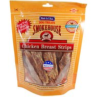 Smokehouse USA Chicken Breast Strips Dog Treats, 8-oz bag