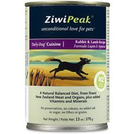 ZiwiPeak Rabbit & Lamb Canned Dog Food, 13-oz, case of 12