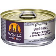 Weruva Steak Frites with Beef, Pumpkin & Sweet Potatoes in Gravy Grain-Free Canned Dog Food, 5.5-oz, case of 24