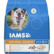 Iams ProActive Health Adult Optimal Weight Dry Dog Food, 29.1-lb bag