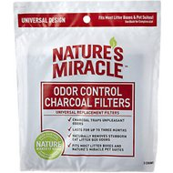 Nature's Miracle JFC Odor Control Universal Charcoal Filter, 2-pack