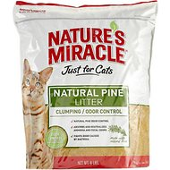 Nature's Miracle Just For Cats Natural Pine Cat Litter, 8-lb bag