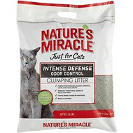 Nature's Miracle Just For Cats Intense Defense Odor Control Clumping Cat Litter, 20-lb bag
