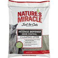 Nature's Miracle Just For Cats Intense Defense Odor Control Clumping Cat Litter, 40-lb bag