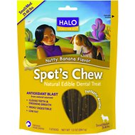 Halo Spot's Chew Nutty Banana Flavor Natural Edible Dental Treats, Small/Medium