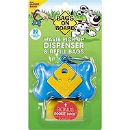 Bags on Board Bone Dispenser, Blue, 1 dispenser, 30 bags