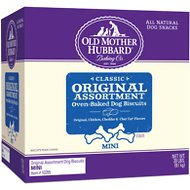 Old Mother Hubbard Classic Original Assortment Biscuits Baked Dog Treats, Mini, 20-lb box