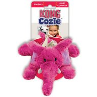 KONG Cozie Elmer the Elephant Dog Toy, Medium