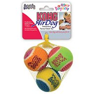 KONG Squeakair Birthday Balls Dog Toy, Medium, 2.5-inch, 3-pack (Color Varies)