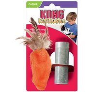 KONG Refillable Feather Top Carrot Catnip Cat Toy