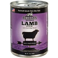 Redbarn Naturals Lamb Stew Grain-Free Canned Dog Food, 13-oz, case of 12
