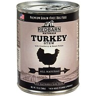 Redbarn Naturals Turkey Stew Grain-Free Canned Dog Food, 13-oz, case of 12