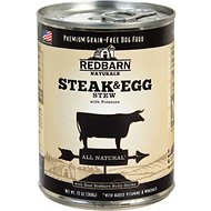 Redbarn Naturals Steak & Egg Stew Grain-Free Canned Dog Food, 13-oz, case of 12