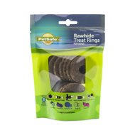 Busy Buddy Natural Rawhide Rings Dog Treats, Size B