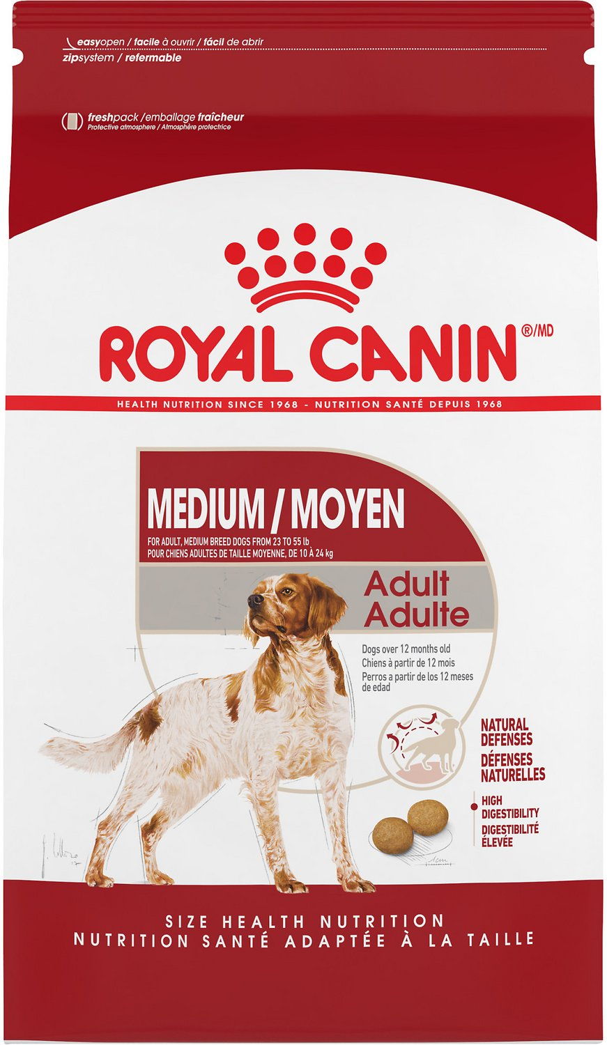 royal canin medium adult dry dog food 30 lb bag. Black Bedroom Furniture Sets. Home Design Ideas