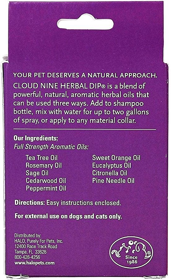 halo cloud 9 herbal dip for dogs cats 0 5 oz bottle chewy com
