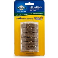 Busy Buddy Ultra-Thick Natural Rawhide Rings Dog Treats, Size E
