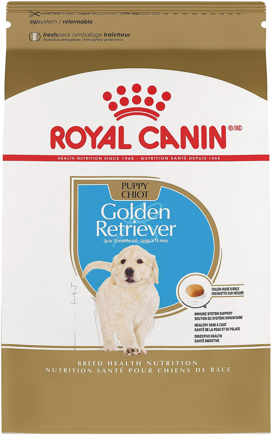 royal canin golden retriever puppy dry dog food 30 lb bag. Black Bedroom Furniture Sets. Home Design Ideas