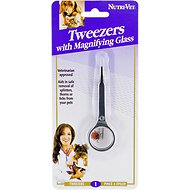 Nutri-Vet Tweezers with Magnifying Glass for Pets