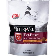 Nutri-Vet Pet-Ease Dog Soft Chews, 6-oz bag