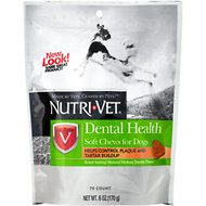 Nutri-Vet Dental Health Dog Soft Chews, 6-oz bag